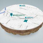 Création infographie d'une carte 3d avec relief